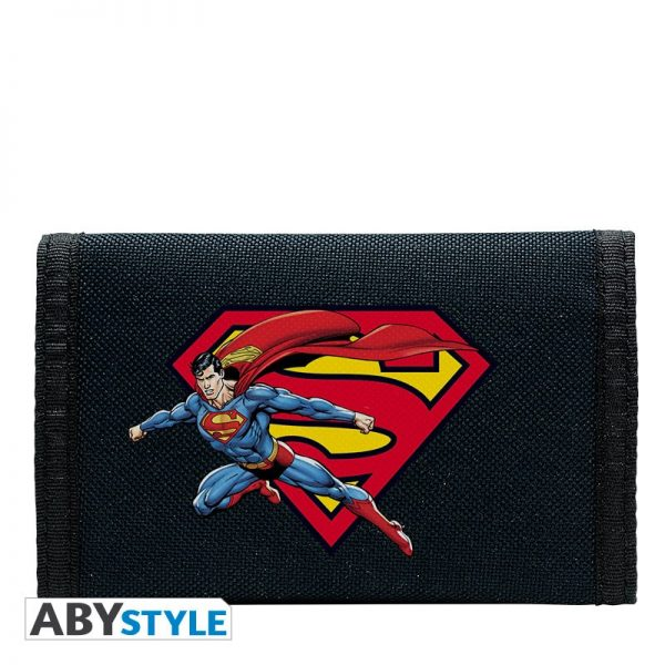 Superman Cartera Logo Azul