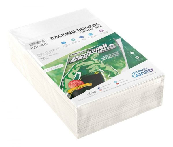 Ultimate Guard: Comic Backing Boards Current Size (100) (174 x 266 mm).