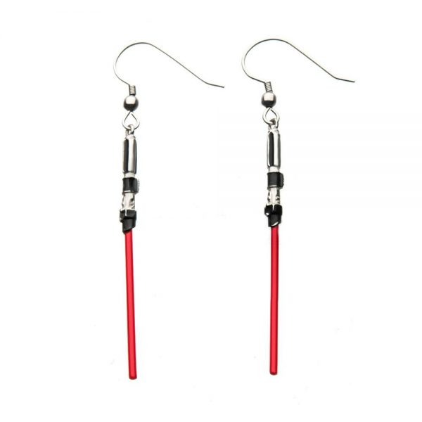 Star Wars Pendientes Red Light Saber