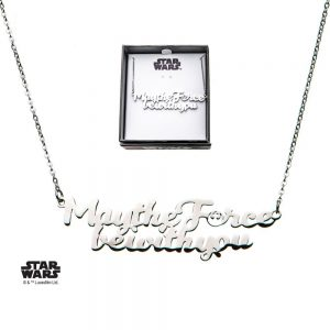 Star Wars Colgante con Collar de acero inoxidable May the Force be with You