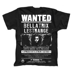 Harry Potter Camiseta Wanted Bellatrix Lestrange