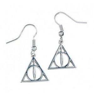 Harry Potter Pendientes Deathly Hallows (plateado)
