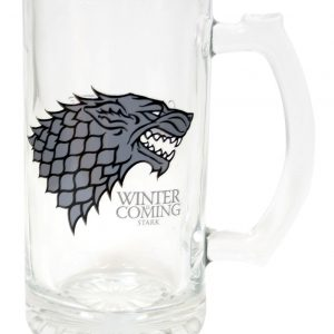 Winter Is Coming Stark Jarra Cerveza Cristal Game Of Thrones