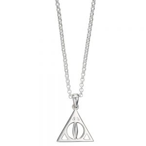 Harry Potter Collar con Colgante Deathly Hallows (Plata)
