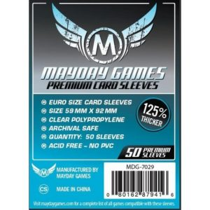 Mayday -[7029] Premium Euro Card Sleeve (125% thicker) (Pack of 50) -59 MM X 92 MM