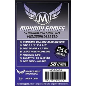 Mayday -[7076] Premium USA Board Game Sleeves 56 MM X 87 MM (50 pack) (Purple)