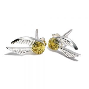 Harry Potter Pendientes Golden Snitch (plateado)