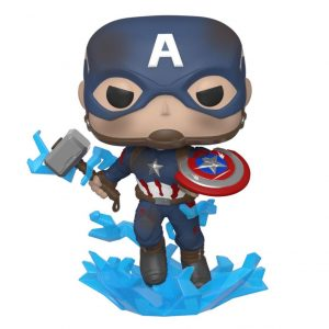 Avengers: Endgame Figura Funko Pop Captain America w/Broken Shield & Mjölnir