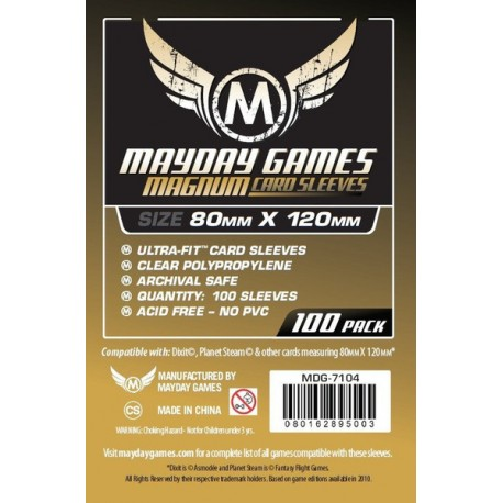 """Mayday - [7104] Magnum Gold Sleeve: 80 MM X 120 MM Card Sized -""""Dixit"""""""
