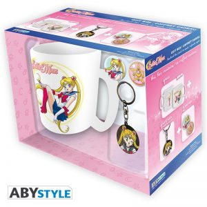 Sailor Moon Pack de Regalo Taza + Llavero + Chapas Sailor Moon