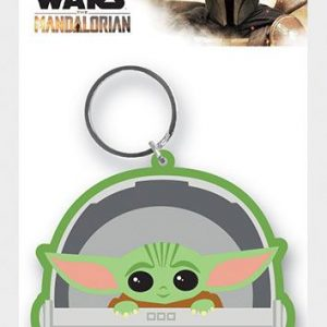 Star Wars The Mandalorian Llavero caucho The Child 6 cm